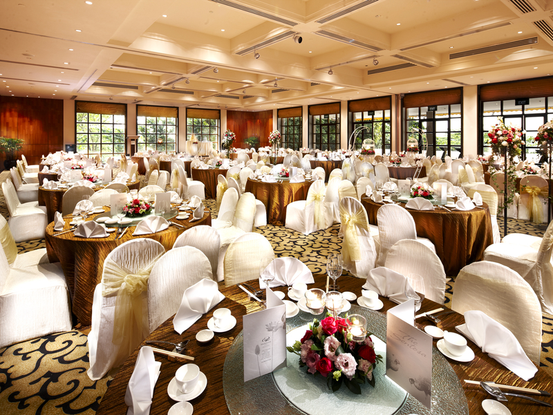 singapore ballroom with several large windows and round tables