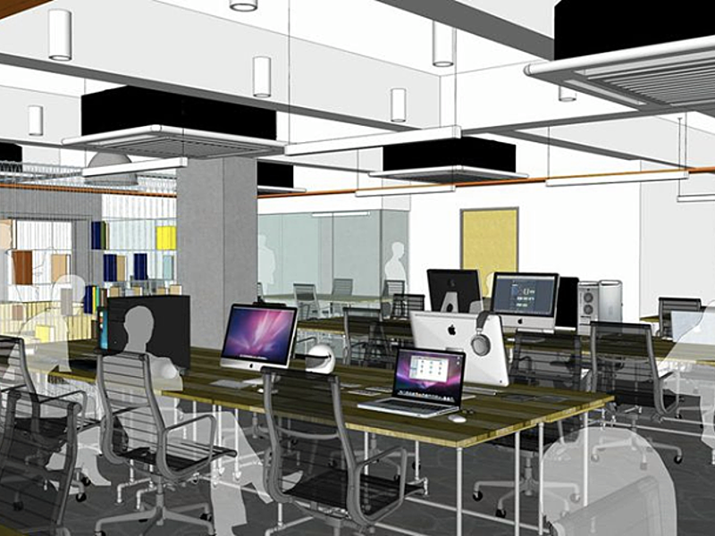 office setup illustration for 40 capacity