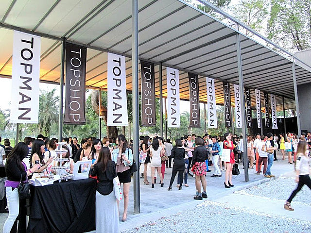 people attending product launch event in outdoor event space kuala lumpur