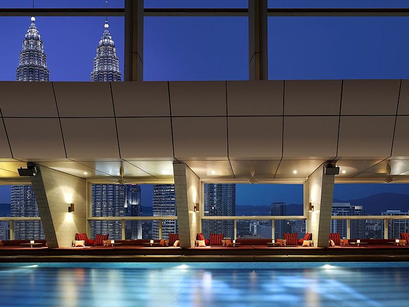 kuala lumpur event venue with indoor large infinity pool and city view