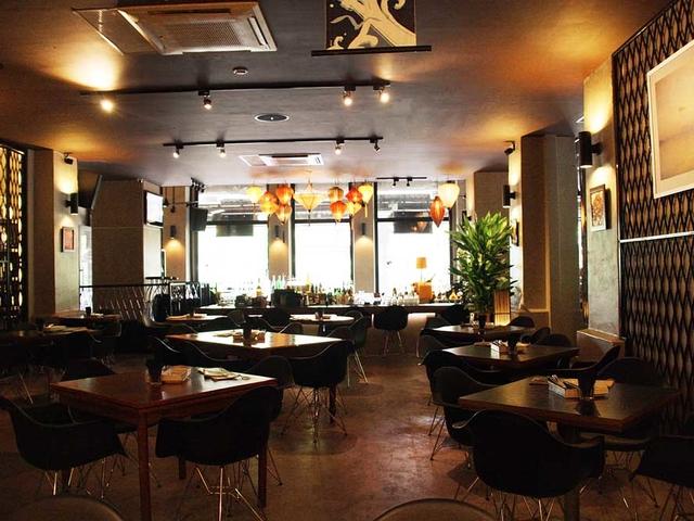 belgian restaurant with warm lighting