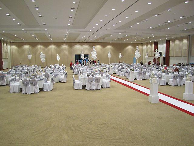 malaysia agro exposition park serdang auditorium with dining event set up