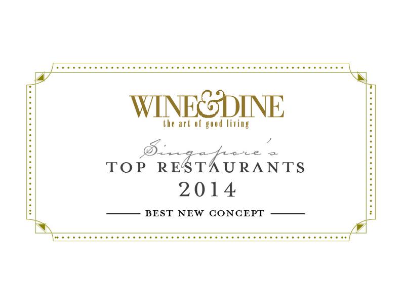 wine and dine top restaurant singapore