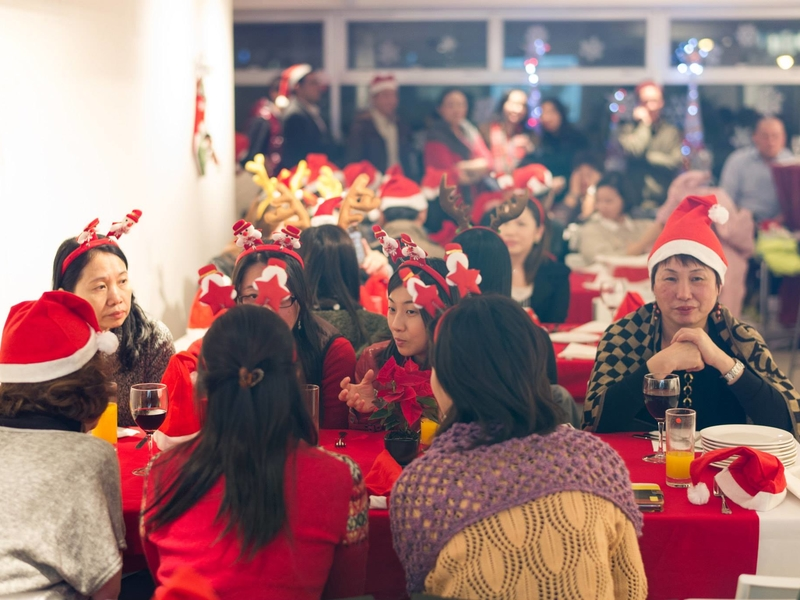company christmas celebration in party venue