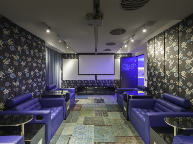 private function room equipped with sofa and audio visual facilities