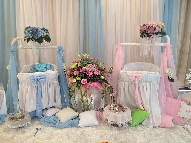 baby boy and girl baby shower event