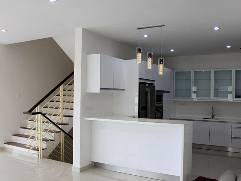 kitchen area of the private villa near the stairs