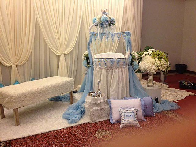 stage area of baby shower event