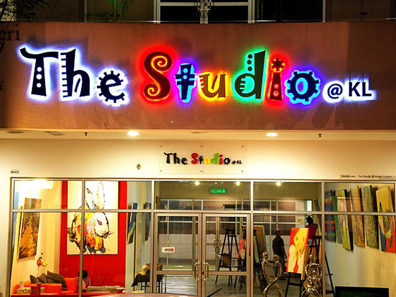 the studio at kl frontage with entrance glass door