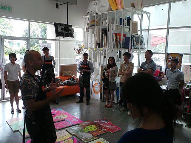 people join workshop painting in studio kuala lumpur