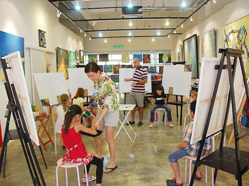 kids painting workshop event in art gallery kuala lumpur