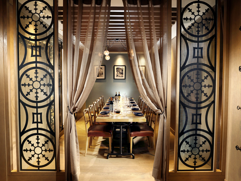 entrance to quemo private dining room