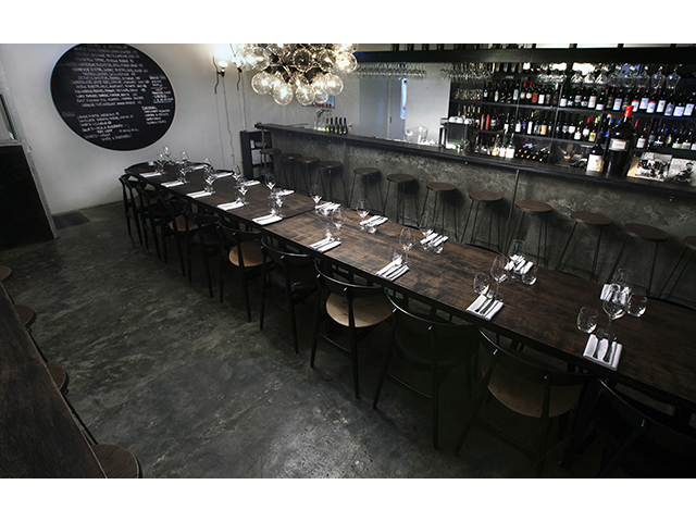 italian restaurant and wine bar for product launch event