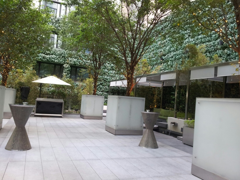 vibes outdoor networking space at the mira hotel