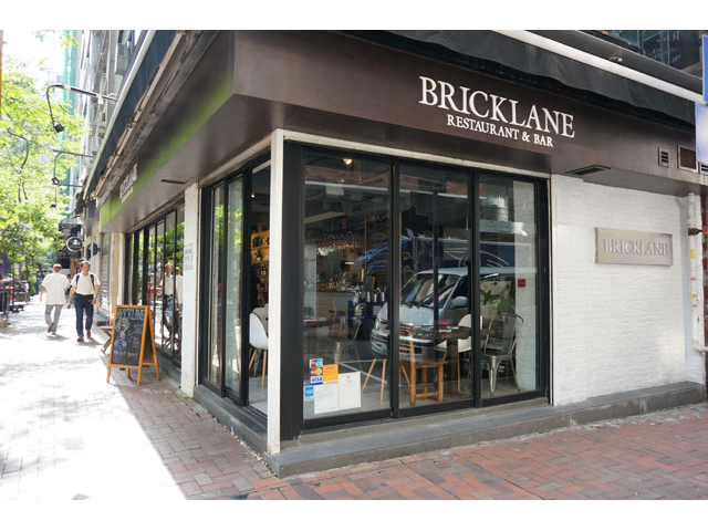 the front look of bricklane bar and restaurant
