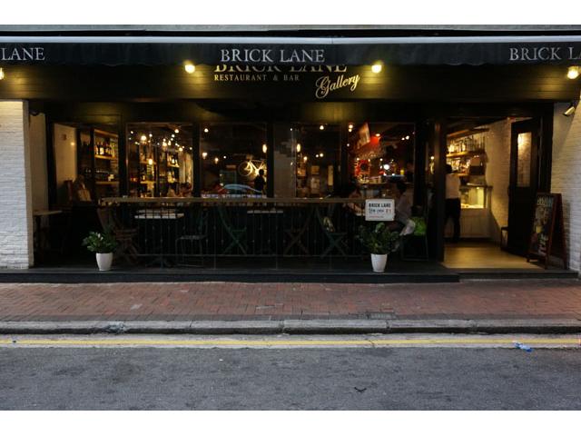 the front door of bricklane bar and restaurant