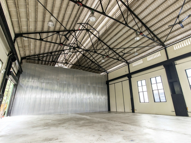 plain event venue in singapore with black and white interior